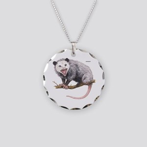 Opossum Possum Animal Necklace Circle Charm