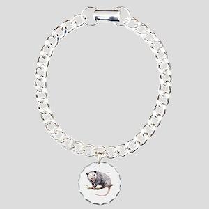 Opossum Possum Animal Charm Bracelet, One Charm