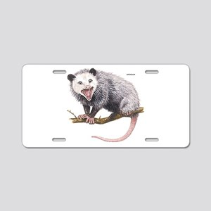 Opossum Possum Animal Aluminum License Plate