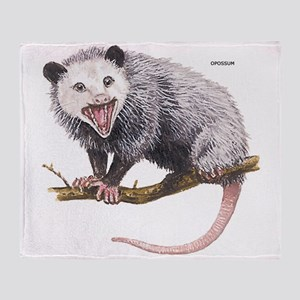 Opossum Possum Animal Throw Blanket