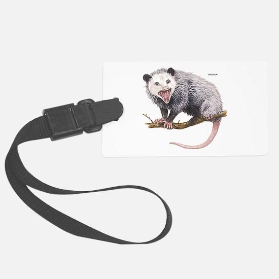 Opossum Possum Animal Luggage Tag
