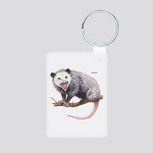 Opossum Possum Animal Aluminum Photo Keychain