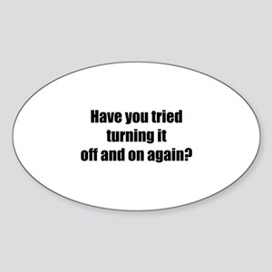 Off and on again Sticker (Oval)