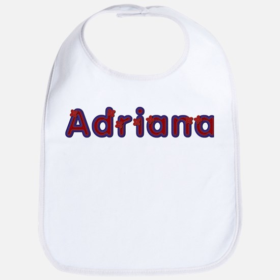Adriana Red Caps Bib