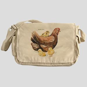Hen and Chicks Chicken Messenger Bag