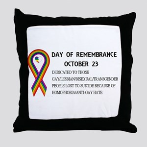 Day of Remembrance Throw Pillow