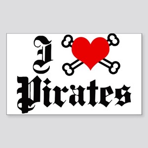 I love pirates Rectangle Sticker