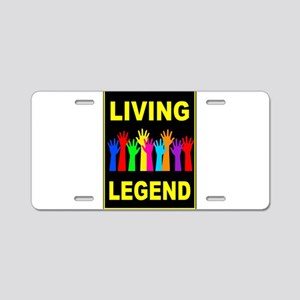 LIVING LEGEND Aluminum License Plate
