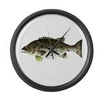 Giant Black Sea Bass fish Large Wall Clock