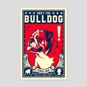 Obey the English Bulldog! Mini Poster