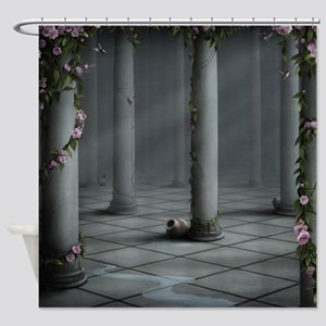 Gothic Rose Columns Shower Curtain