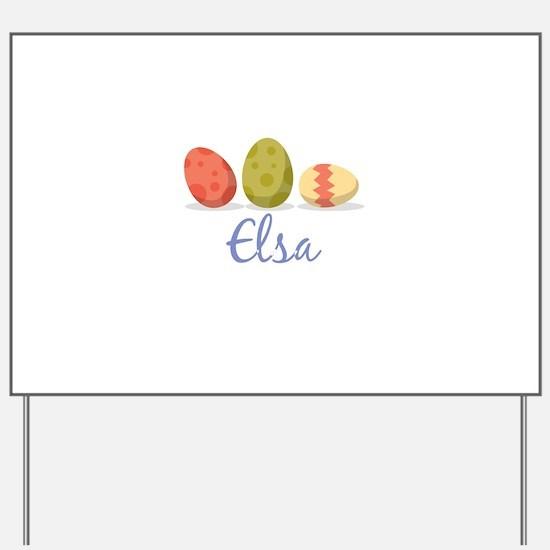 Easter Egg Elsa Yard Sign