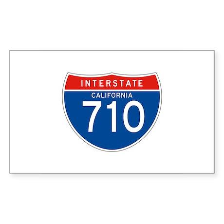 Interstate 710 - CA Rectangle Sticker
