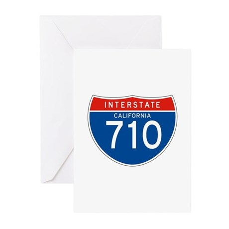Interstate 710 - CA Greeting Cards (Pk of 10)