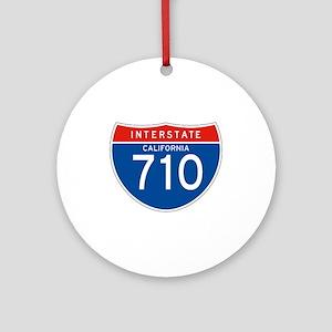 Interstate 710 - CA Ornament (Round)