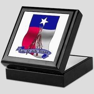 Co. H 4th Texas Flag Keepsake Box