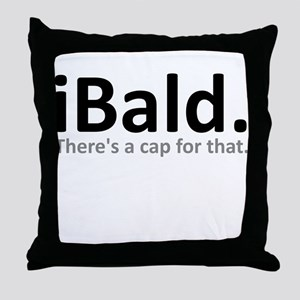 iBald Funny Bald Balding Throw Pillow