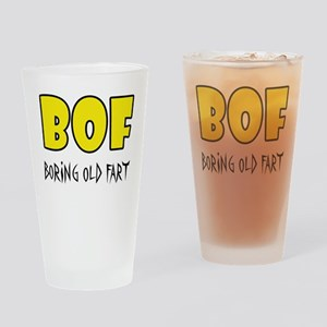 Boring Old Fart Drinking Glass