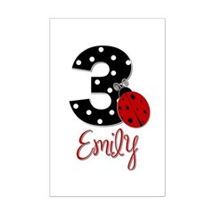 3 Ladybug EMILY - Custom Posters