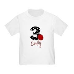 3 Ladybug EMILY - Custom T-Shirt