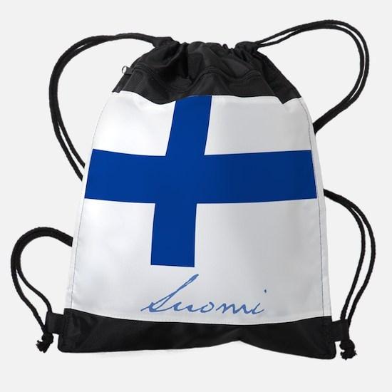 Finland.png Drawstring Bag