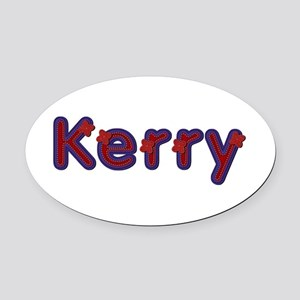 Kerry Red Caps Oval Car Magnet