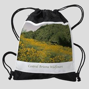 Central Arizona Wildflowers Drawstring Bag