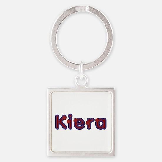 Kiera Red Caps Square Keychain