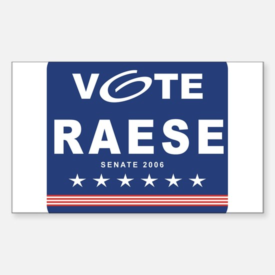 Vote John Raese Rectangle Decal