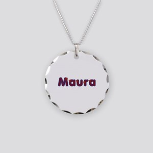 Maura Red Caps Necklace Circle Charm