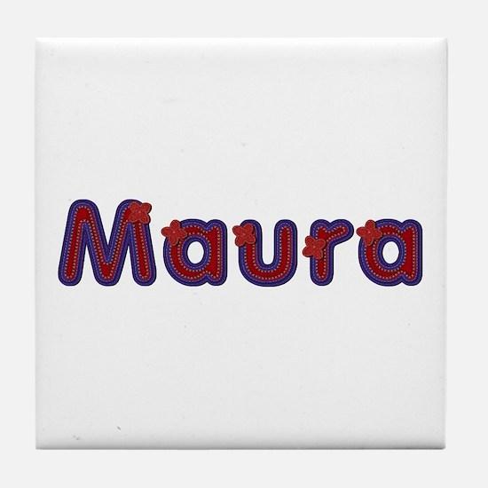 Maura Red Caps Tile Coaster