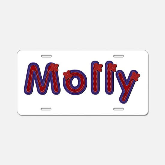 Molly Red Caps Aluminum License Plate