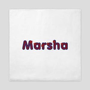 Marsha Red Caps Queen Duvet