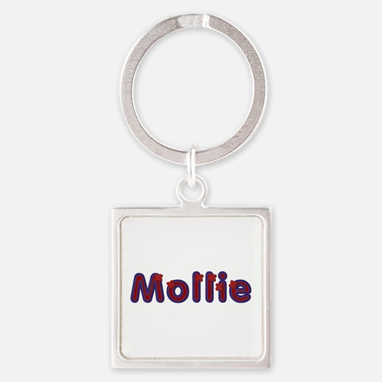 Mollie Red Caps Square Keychain