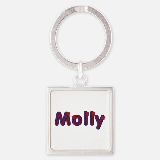 Molly Red Caps Square Keychain