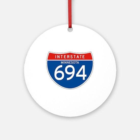 Interstate 694 - MN Ornament (Round)