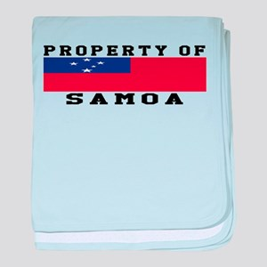 Property Of Samoa baby blanket