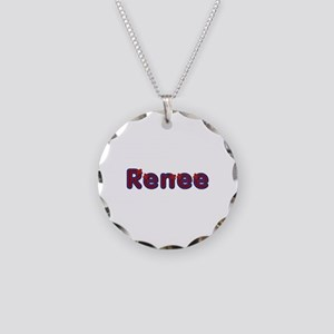Renee Red Caps Necklace Circle Charm