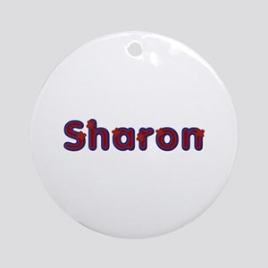 Sharon Red Caps Round Ornament