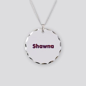 Shawna Red Caps Necklace Circle Charm