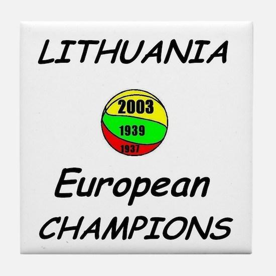 Lithuania Euro Champs Ceramic Coaster