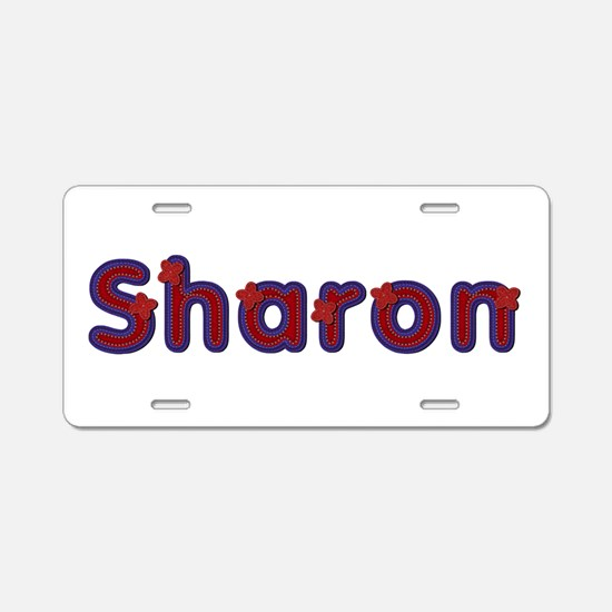 Sharon Red Caps Aluminum License Plate