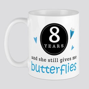 8 Year Anniversary Butterfly Mug