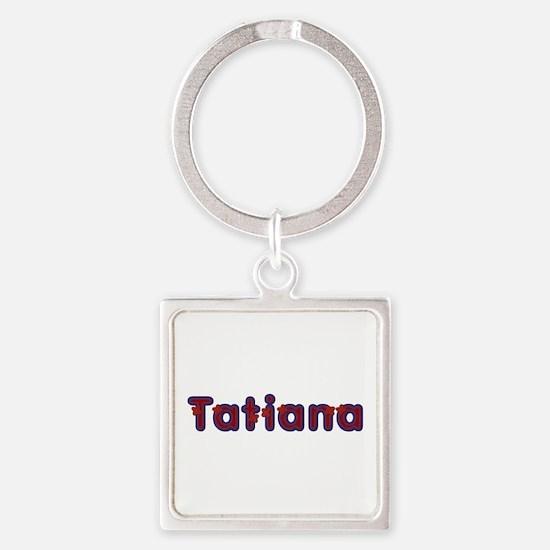 Tatiana Red Caps Square Keychain