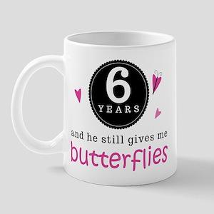 6th Anniversary Butterflies Mug