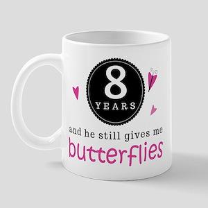 8th Anniversary Butterflies Mug