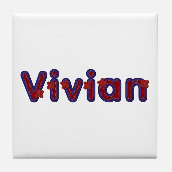 Vivian Red Caps Tile Coaster