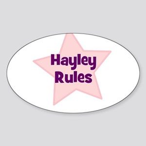 Hayley Rules Oval Sticker
