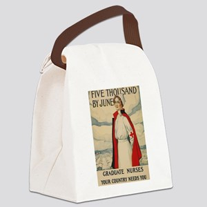 USA Nurse Canvas Lunch Bag