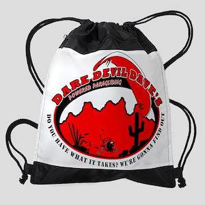 dare_devil_dave_wht Drawstring Bag